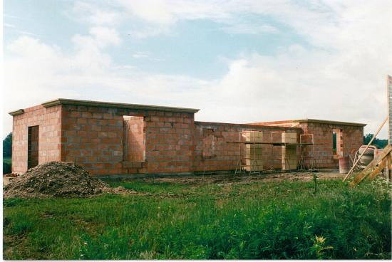 Construction de la mairie en 1996