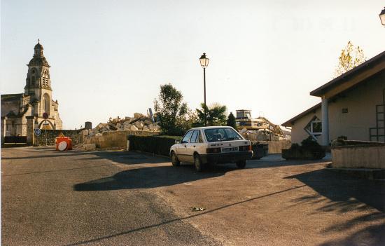 Les maisons sont détruites